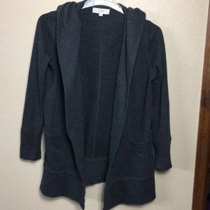 Loft hooded sweatshirt cardigan small